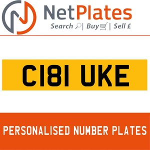 C181 UKE PERSONALISED PRIVATE CHERISHED DVLA NUMBER PLATE For Sale