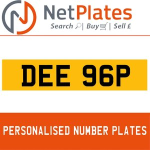 DEE 96P PERSONALISED PRIVATE CHERISHED DVLA NUMBER PLATE For Sale