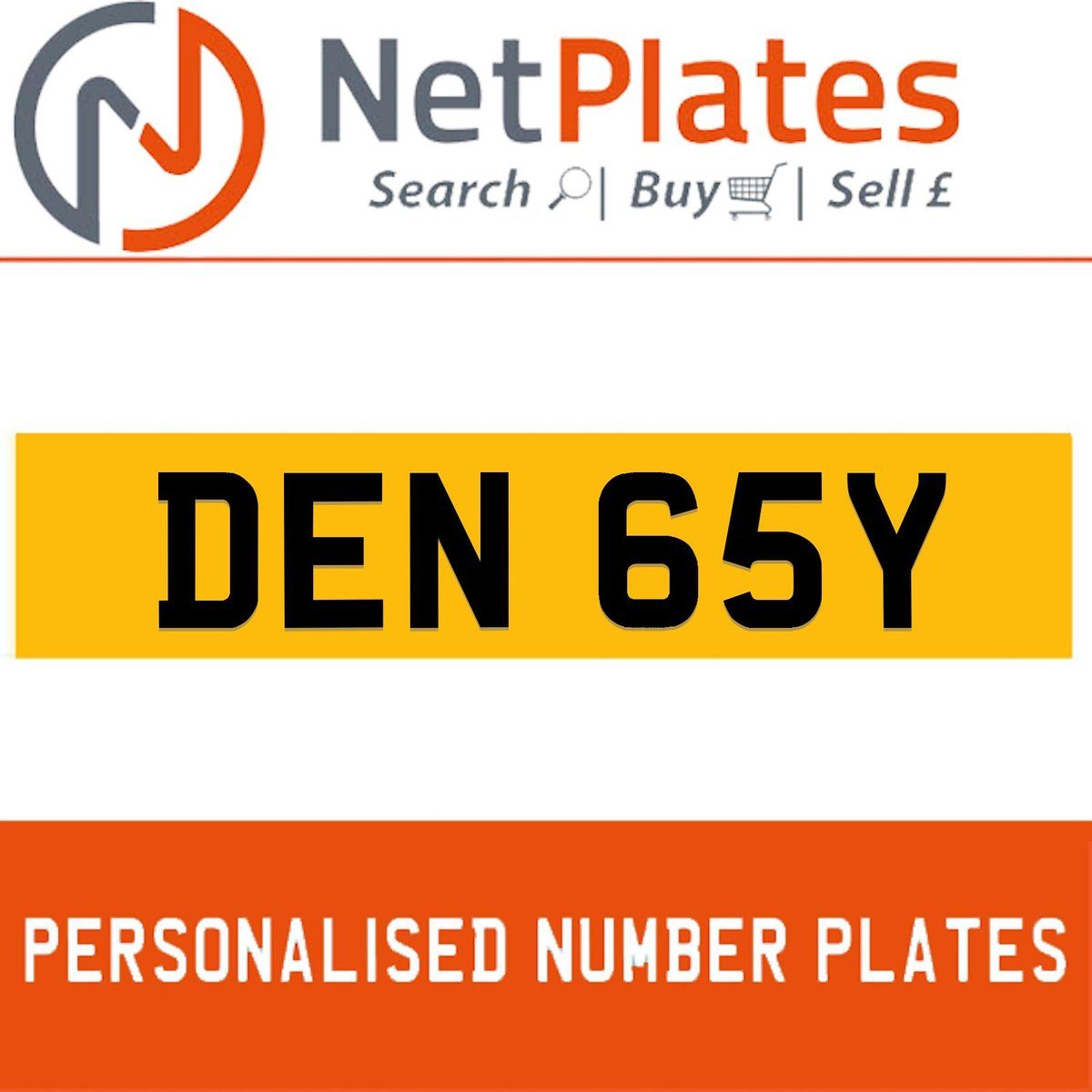 DEN 65Y PERSONALISED PRIVATE CHERISHED DVLA NUMBER PLATE For Sale (picture 1 of 5)