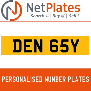 DEN 65Y PERSONALISED PRIVATE CHERISHED DVLA NUMBER PLATE For Sale