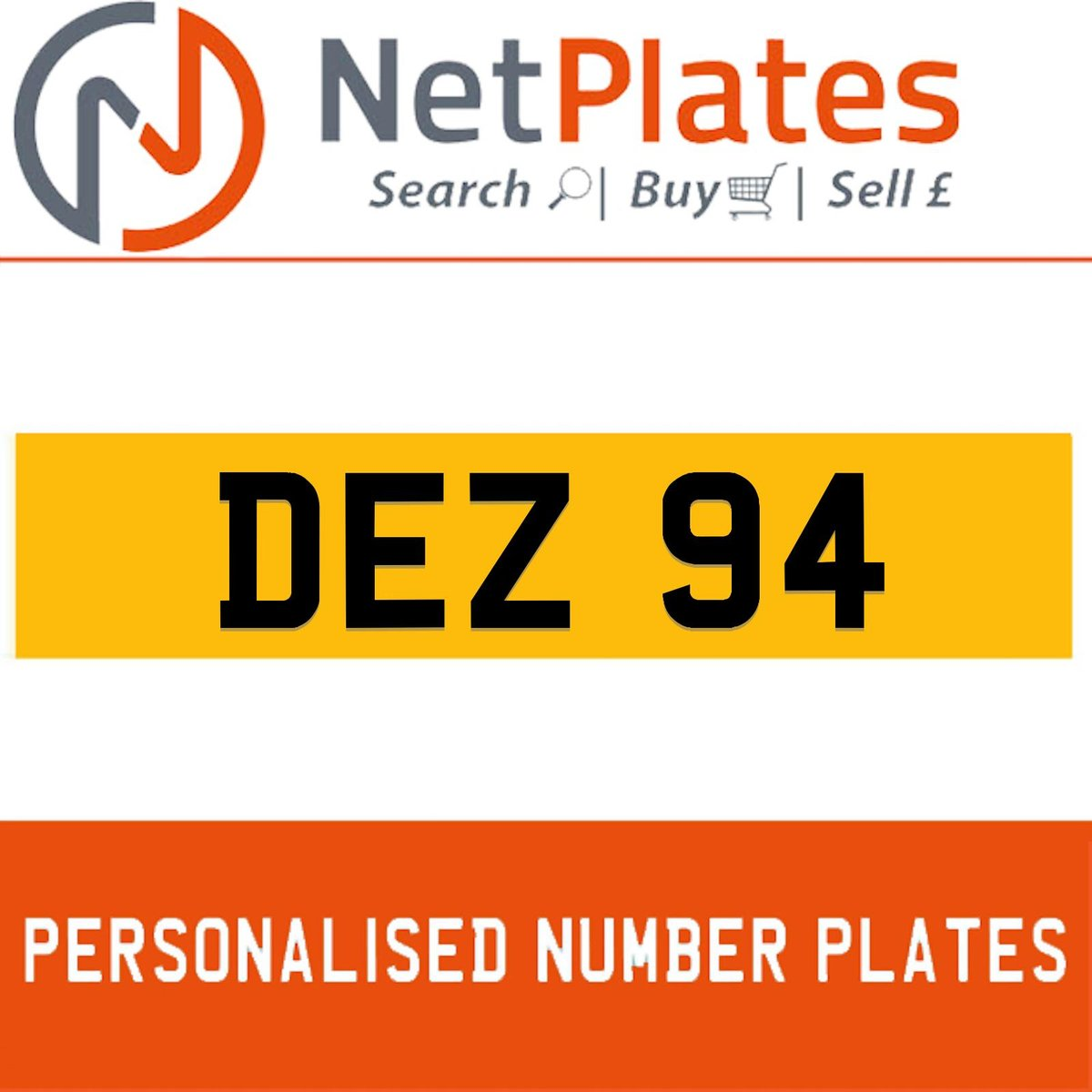 DEZ 94 PERSONALISED PRIVATE CHERISHED DVLA NUMBER PLATE For Sale (picture 1 of 5)