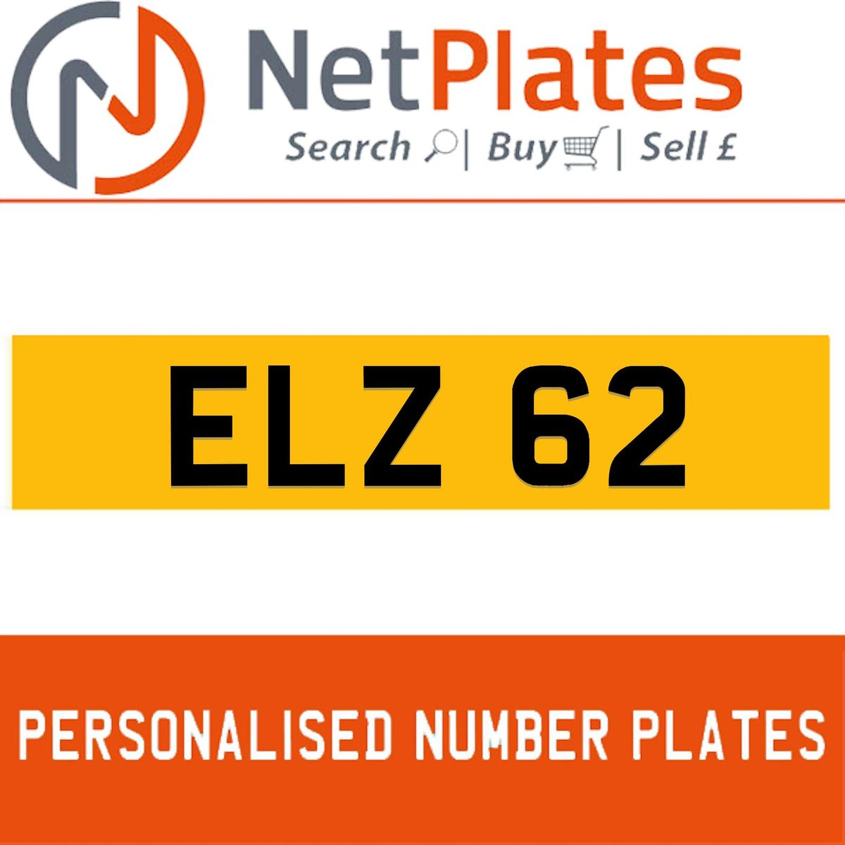 ELZ 62 PERSONALISED PRIVATE CHERISHED DVLA NUMBER PLATE For Sale (picture 1 of 5)