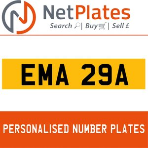 EMA 29A PERSONALISED PRIVATE CHERISHED DVLA NUMBER PLATE For Sale