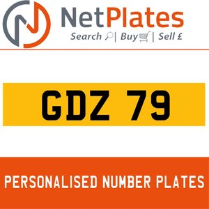 GDZ 79 PERSONALISED PRIVATE CHERISHED DVLA NUMBER PLATE For Sale