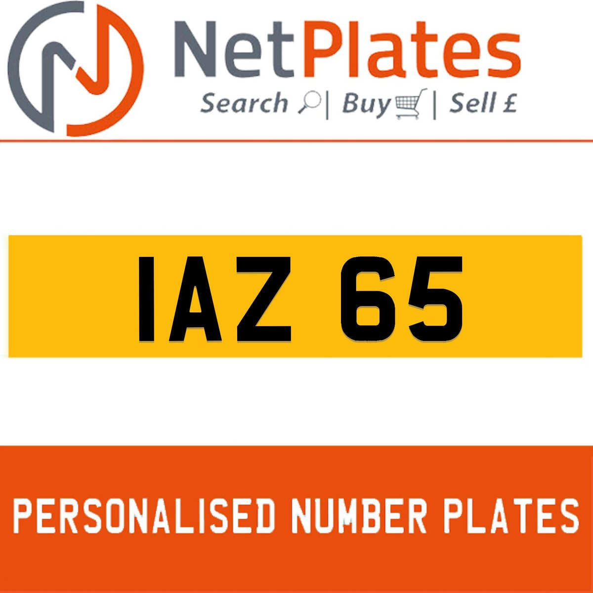 IAZ 65 PERSONALISED PRIVATE CHERISHED DVLA NUMBER PLATE For Sale (picture 1 of 5)