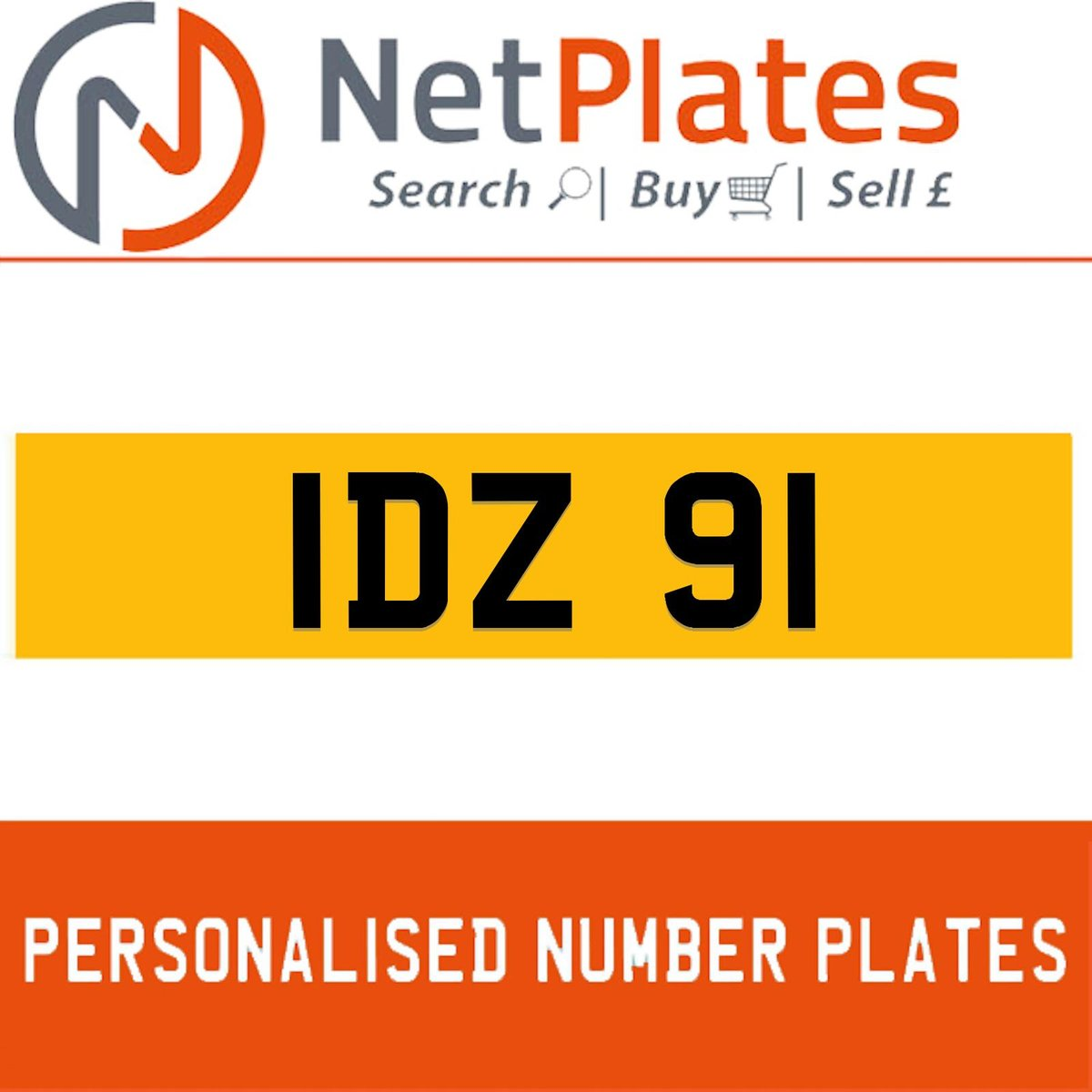 IDZ 91  PERSONALISED PRIVATE CHERISHED DVLA NUMBER PLATE For Sale (picture 1 of 5)
