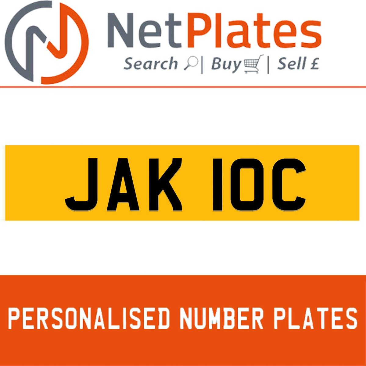JAK 10C PERSONALISED PRIVATE CHERISHED DVLA NUMBER PLATE For Sale (picture 1 of 5)