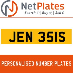 JEN 351S PERSONALISED PRIVATE CHERISHED DVLA NUMBER PLATE For Sale