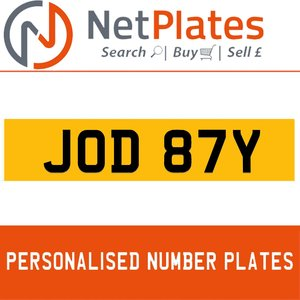 JOD 87Y PERSONALISED PRIVATE CHERISHED DVLA NUMBER PLATE For Sale