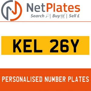 KEL 26Y PERSONALISED PRIVATE CHERISHED DVLA NUMBER PLATE For Sale
