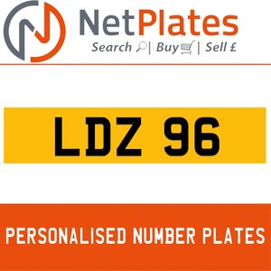 LDZ 96 PERSONALISED PRIVATE CHERISHED DVLA NUMBER PLATE For Sale