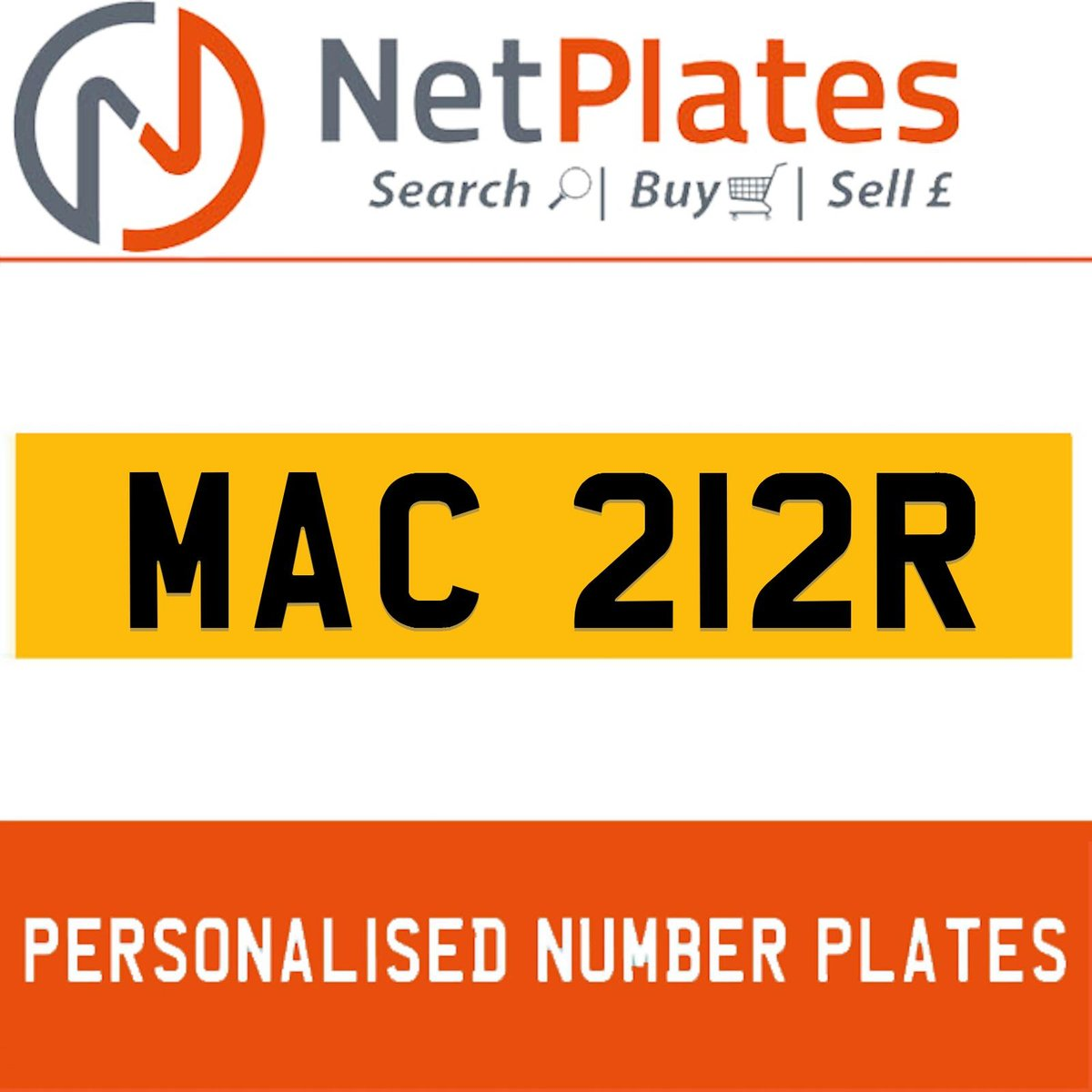 MAC 212R PERSONALISED PRIVATE CHERISHED DVLA NUMBER PLATE For Sale (picture 1 of 5)