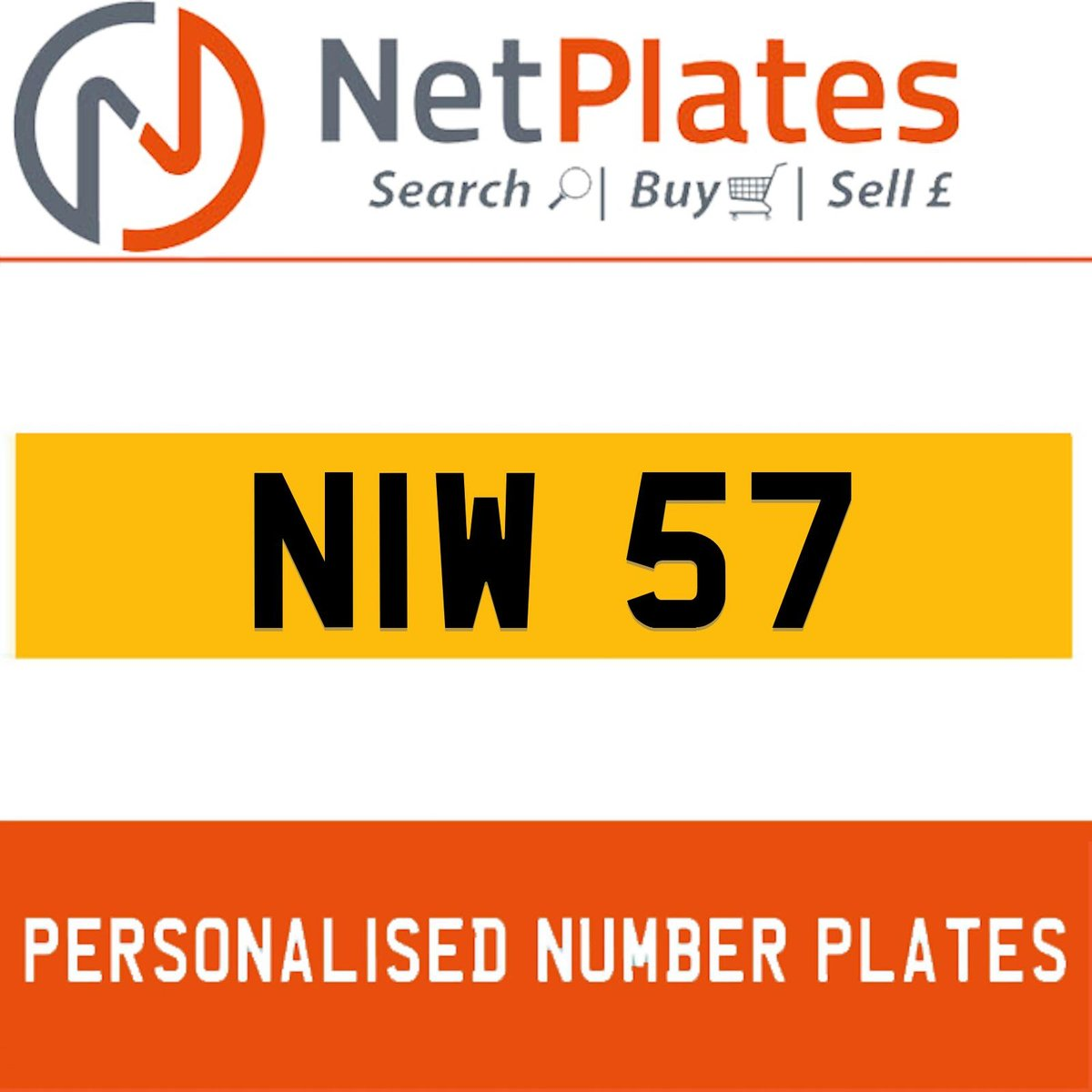 NIW 57 PERSONALISED PRIVATE CHERISHED DVLA NUMBER PLATE For Sale (picture 1 of 5)