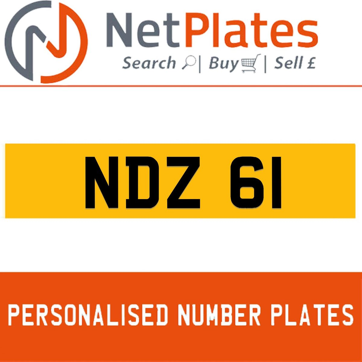 NDZ 61 PERSONALISED PRIVATE CHERISHED DVLA NUMBER PLATE For Sale (picture 1 of 5)
