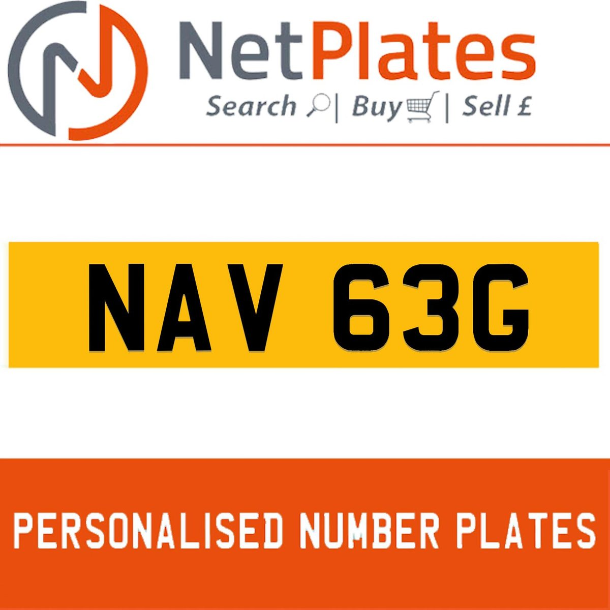 NAV 63G PERSONALISED PRIVATE CHERISHED DVLA NUMBER PLATE For Sale (picture 1 of 5)