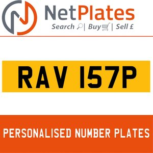 RAV 157P PERSONALISED PRIVATE CHERISHED DVLA NUMBER PLATE For Sale