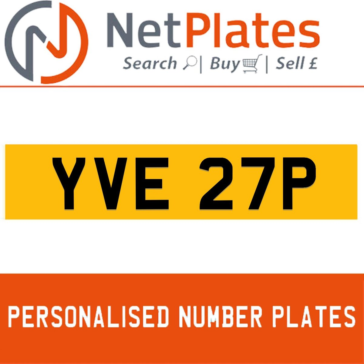 YVE 27P PERSONALISED PRIVATE CHERISHED DVLA NUMBER PLATE For Sale (picture 1 of 5)