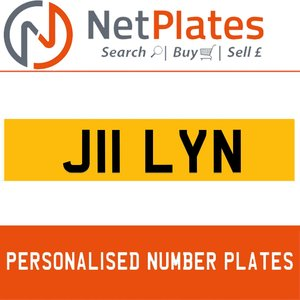J11 LYN PERSONALISED PRIVATE CHERISHED DVLA NUMBER PLATE For Sale