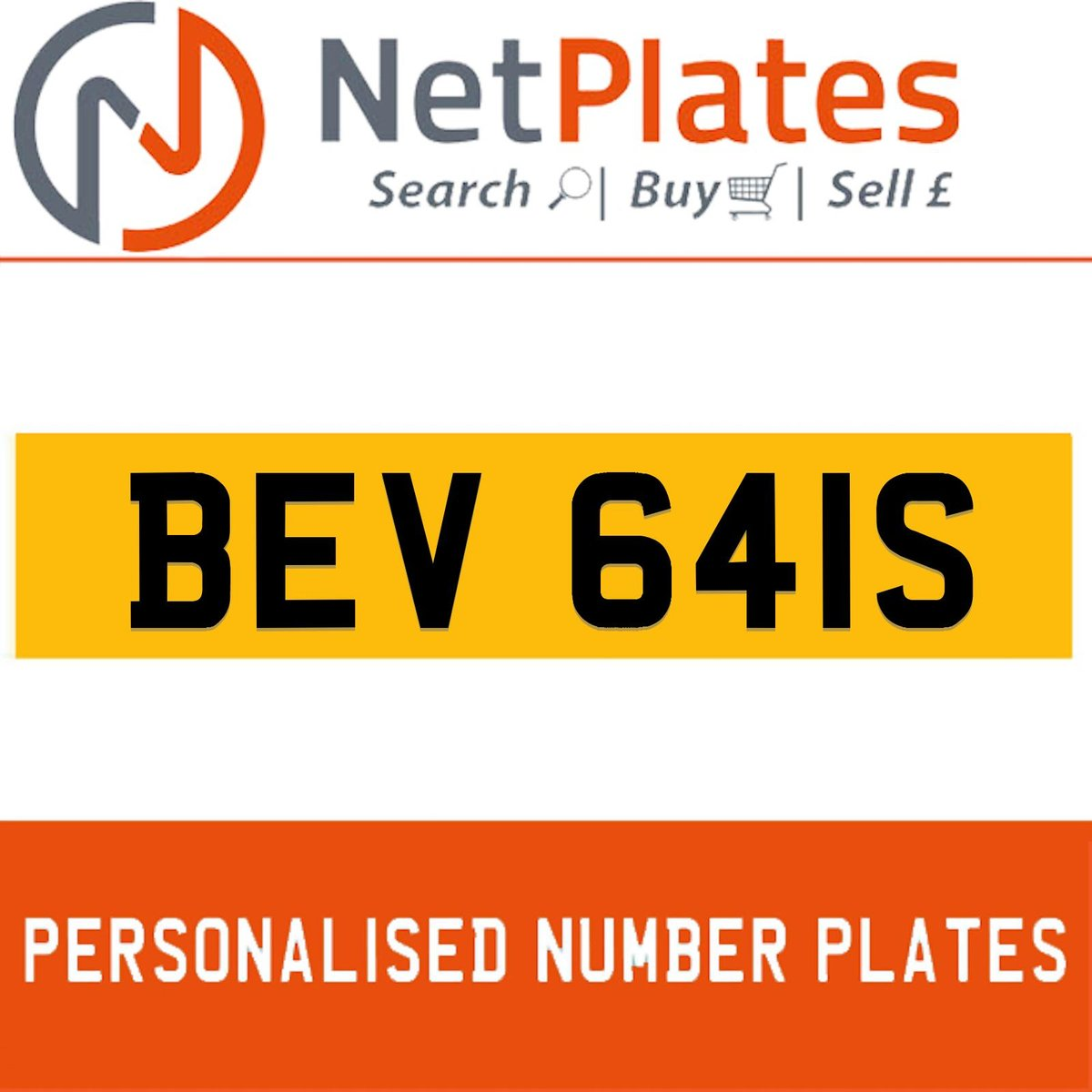BEV 641S PERSONALISED PRIVATE CHERISHED DVLA NUMBER PLATE For Sale (picture 1 of 5)
