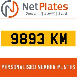 9893 KM PERSONALISED PRIVATE CHERISHED DVLA NUMBER PLATE For Sale