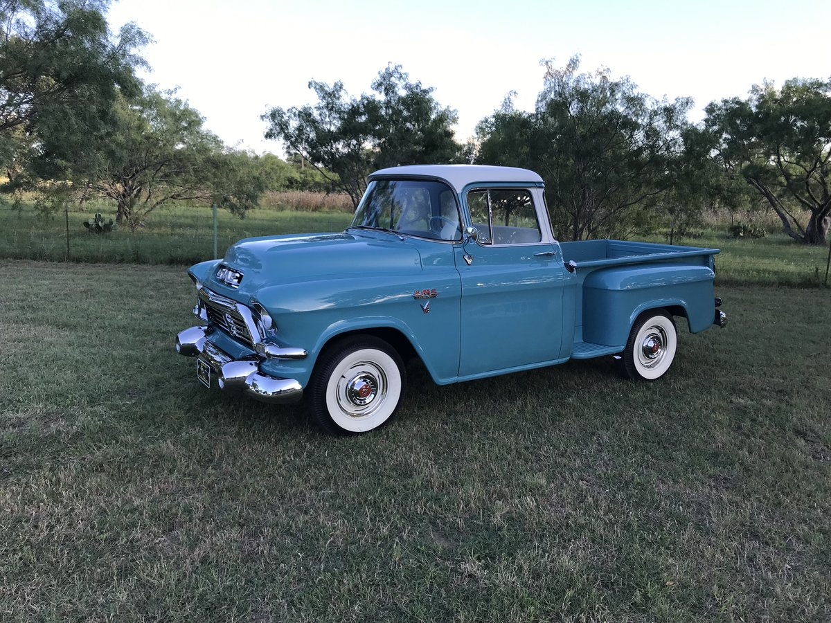 1957 GMC 100 BIG WINDOW V8 AUTO AM RARE AND NICE SOLD (picture 1 of 6)