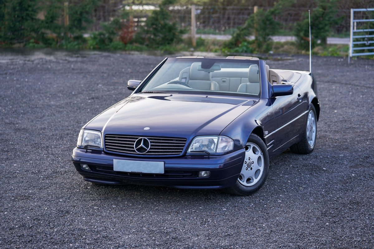 1996 Mercedes-Benz SL 320 R129 Auto Blue Low Mileage Immaculate C For Sale (picture 1 of 6)