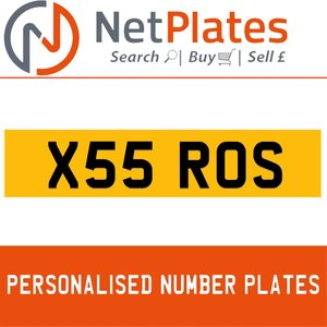 X55 ROS PERSONALISED PRIVATE CHERISHED DVLA NUMBER PLATE For Sale