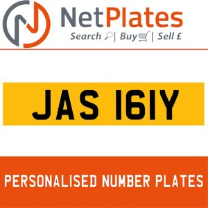 JAS 161Y PERSONALISED PRIVATE CHERISHED DVLA NUMBER PLATE For Sale