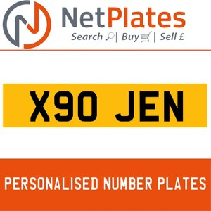 X90 JEN PERSONALISED PRIVATE CHERISHED DVLA NUMBER PLATE For Sale