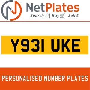Y931 UKE PERSONALISED PRIVATE CHERISHED DVLA NUMBER PLATE For Sale