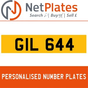 GIL 644 PERSONALISED PRIVATE CHERISHED DVLA NUMBER PLATE For Sale