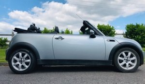2007 MINI Cooper Convertible in Silver with Blue Hood