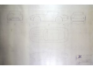 Aston Martin DB4GT Zagato Technical Drawings For Sale by Auction