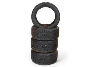Four Bridgestone RE71 Tires For Sale by Auction