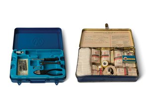 Pair of Volkswagen Tool Kits and First Aid Kit For Sale by Auction