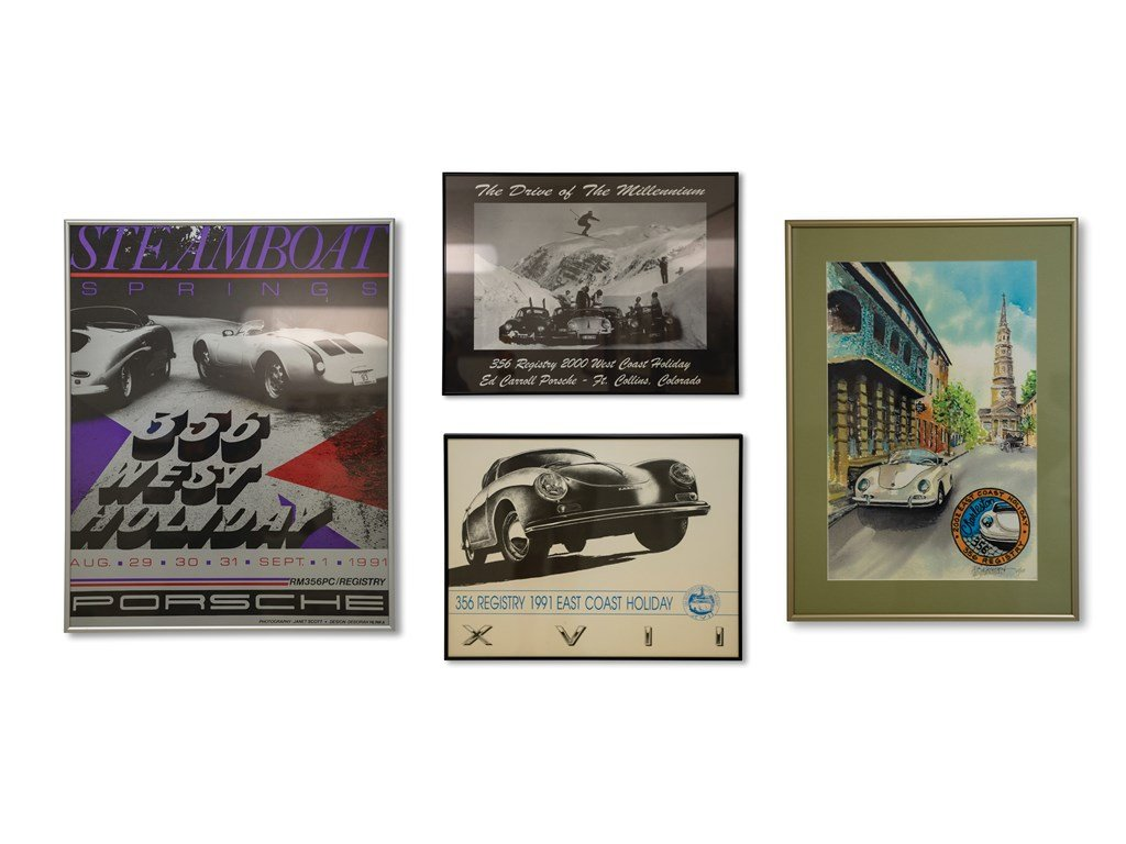 Porsche 356 Registry Framed Posters For Sale by Auction (picture 1 of 5)