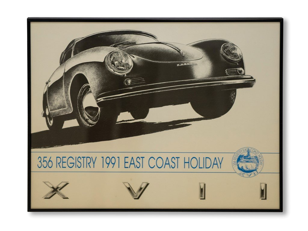 Porsche 356 Registry Framed Posters For Sale by Auction (picture 3 of 5)