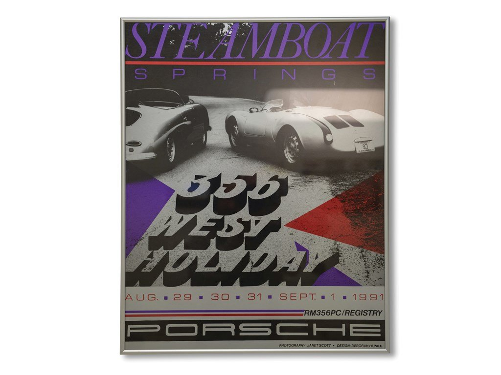 Porsche 356 Registry Framed Posters For Sale by Auction (picture 4 of 5)