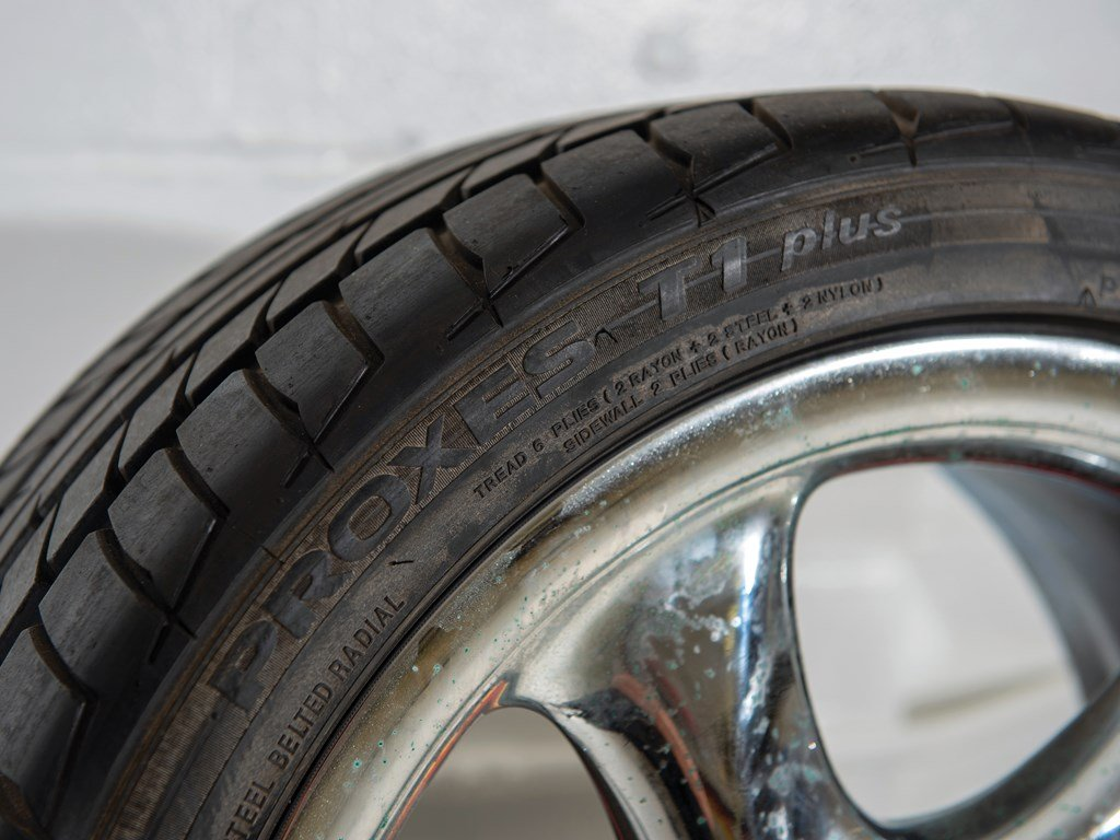 Four Non-Hollow Spoke Turbo Twist-Style Chrome 18 Inch Wheel For Sale by Auction (picture 4 of 5)