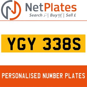 YGY 338S PERSONALISED PRIVATE CHERISHED DVLA NUMBER PLATE For Sale