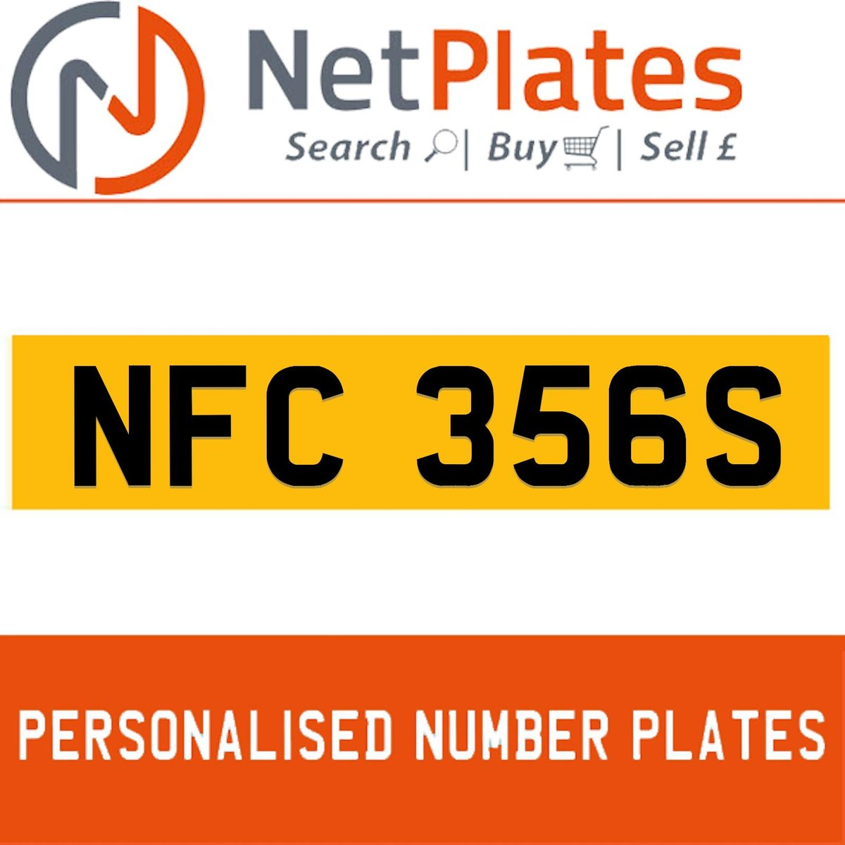 NFC 356S PERSONALISED PRIVATE CHERISHED DVLA NUMBER PLATE For Sale (picture 1 of 5)