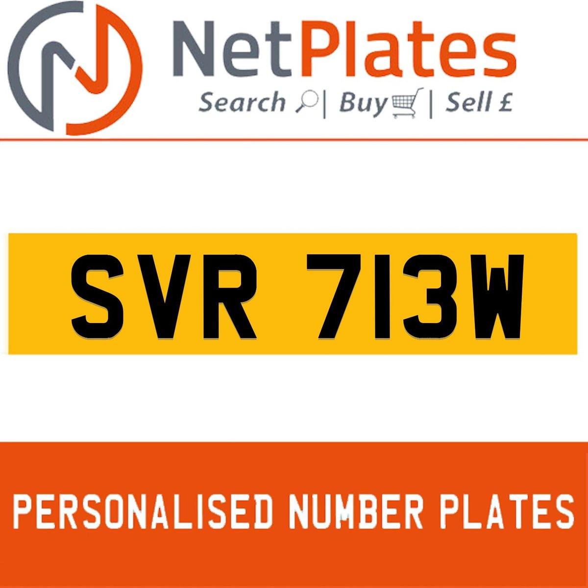 SVR 713W PERSONALISED PRIVATE CHERISHED DVLA NUMBER PLATE For Sale (picture 1 of 4)