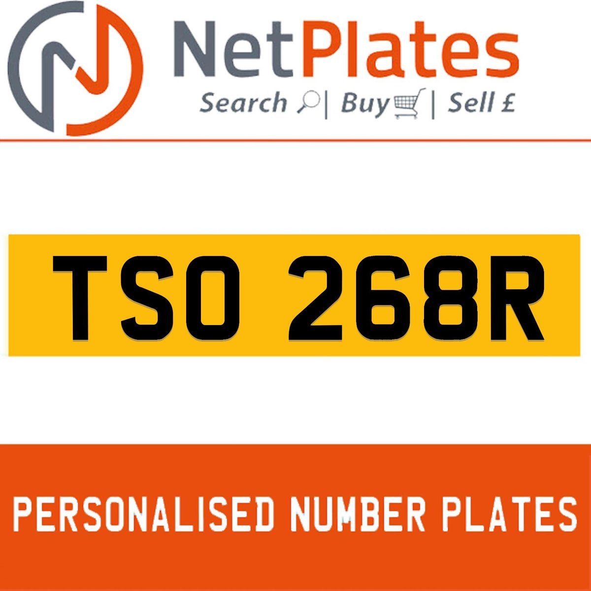 TSO 268R  PERSONALISED PRIVATE CHERISHED DVLA NUMBER PLATE For Sale (picture 1 of 5)