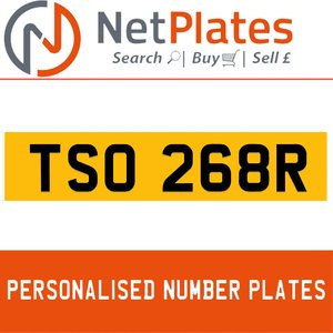 TSO 268R  PERSONALISED PRIVATE CHERISHED DVLA NUMBER PLATE For Sale