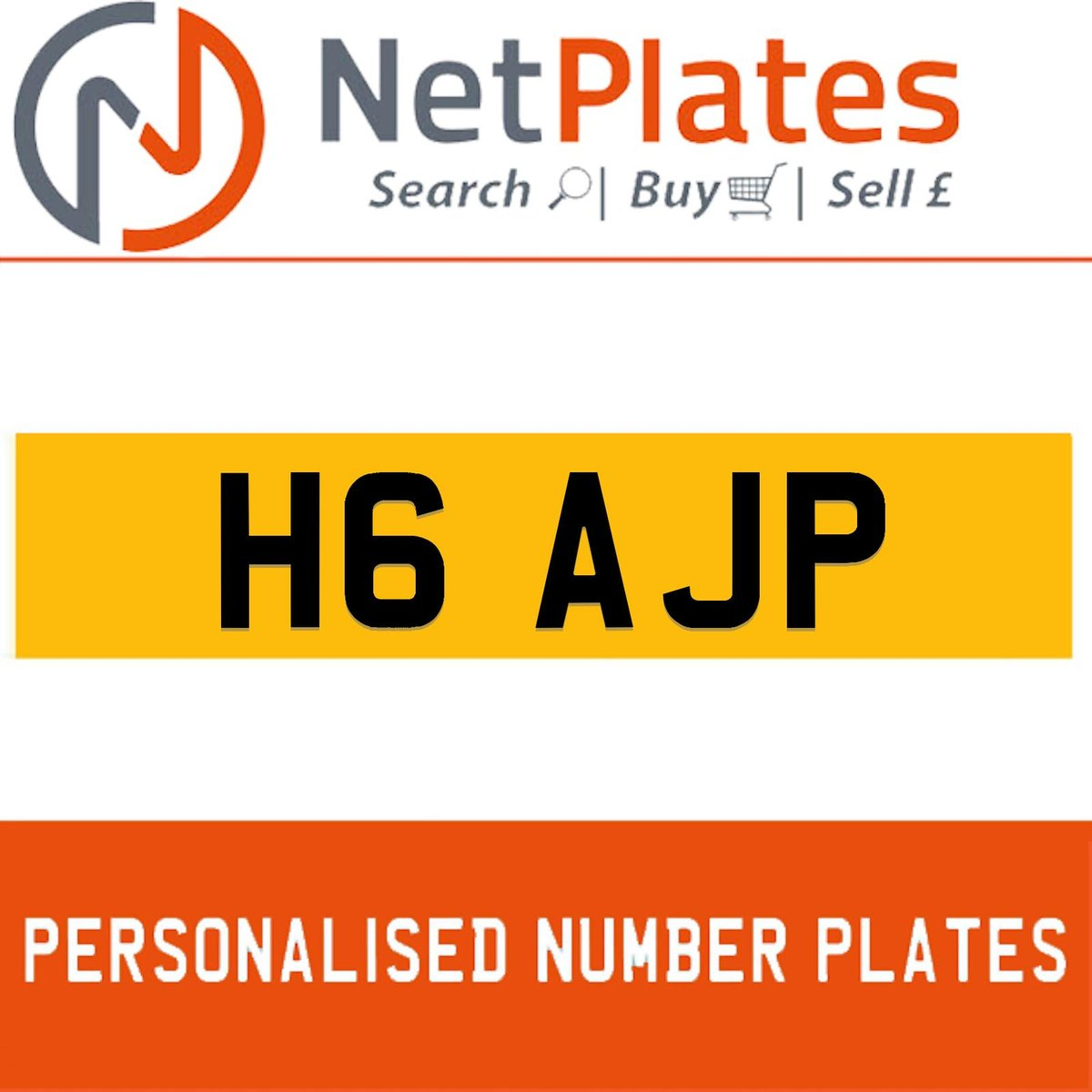H6 AJP PERSONALISED PRIVATE CHERISHED DVLA NUMBER PLATE For Sale (picture 1 of 5)