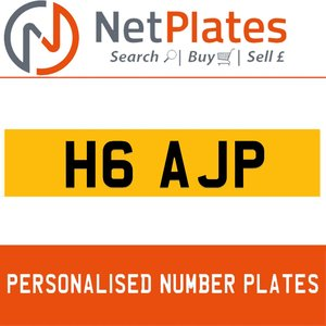 H6 AJP PERSONALISED PRIVATE CHERISHED DVLA NUMBER PLATE For Sale