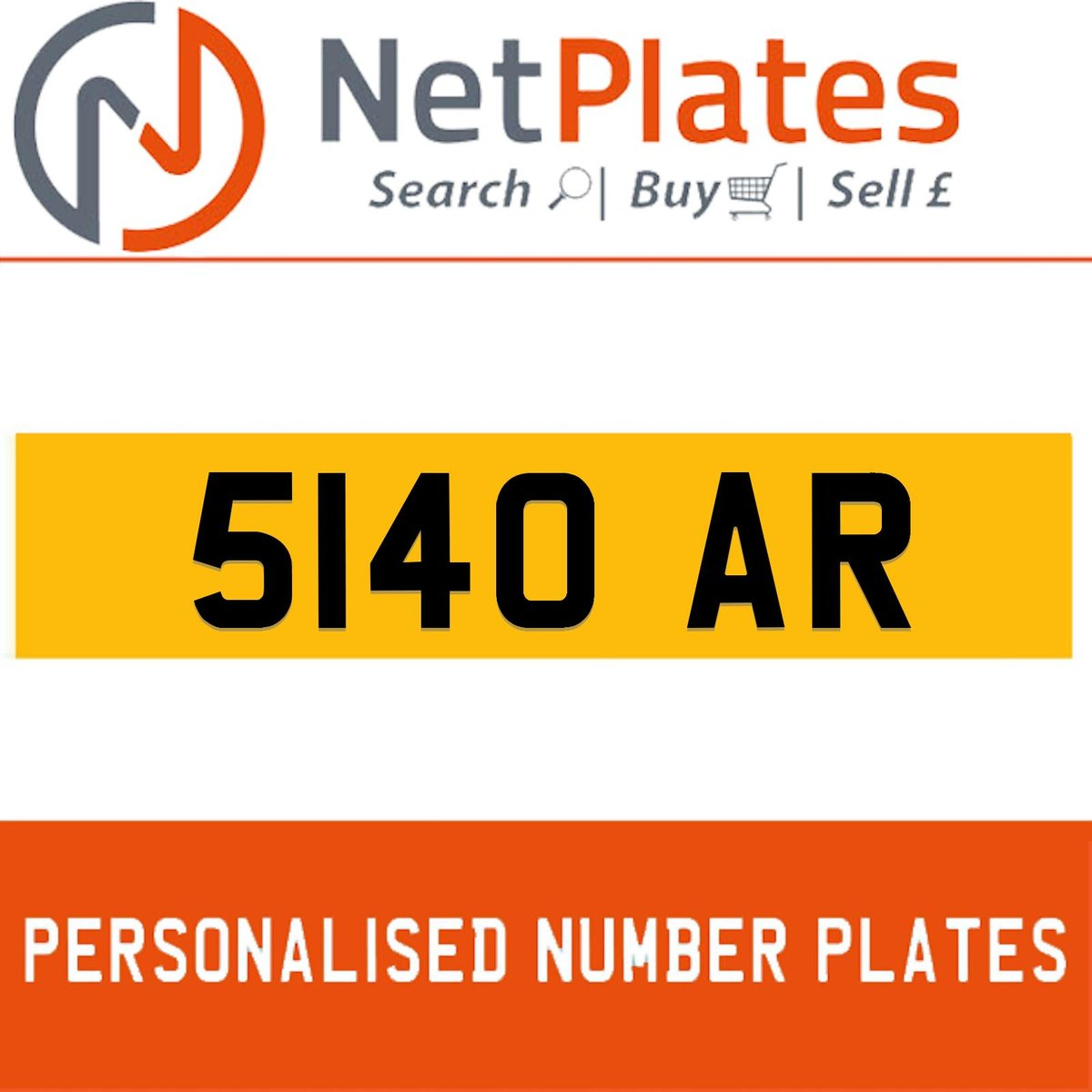 5140 AR PERSONALISED PRIVATE CHERISHED DVLA NUMBER PLATE For Sale (picture 1 of 5)