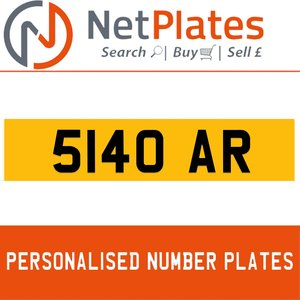 5140 AR PERSONALISED PRIVATE CHERISHED DVLA NUMBER PLATE For Sale