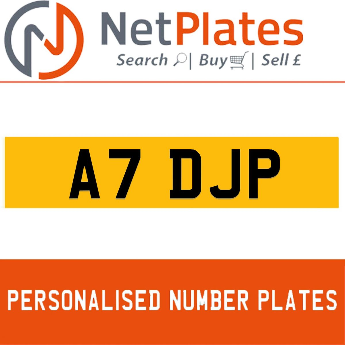A7 DJP PERSONALISED PRIVATE CHERISHED DVLA NUMBER PLATE For Sale (picture 1 of 5)