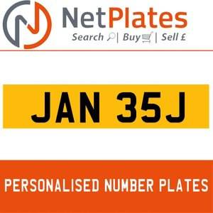 JAN 35J PERSONALISED PRIVATE CHERISHED DVLA NUMBER PLATE For Sale